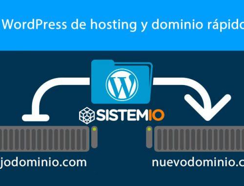 Como cambiar de dominio un wordpress